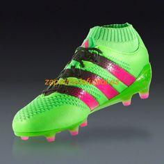Zapatillas Futbol Adidas Ace 16.1 Primeknit FG/AG Solar Verde Rosa Choque Negro