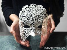 Dreamer Mask: Illumination (wearable half mask) by lumecluster on Shapeways - Electronics gadgets,Electronics apple,Electronics for teens,Electronics organization,Electronics projects 3d Printing Diy, 3d Printing Service, Printing Process, Print 3d, 3d Prints, Impression 3d, 3d Printed Mask, 3d Printer Designs, 3d Printer Projects