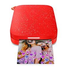 HP Sprocket Portable Photo Printer Edition) - Instantly Print Sticky-Backed Photos from Your Phone - [Cherry Tomato] Small Amazon Christmas Gifts, Christmas Gifts For Teen Girls, Teenage Girl Gifts, Cool Gifts For Teens, Gifts For Girls, Best Portable Printer, Sprocket Photo Printer, Hp Sprocket, Amigurumi