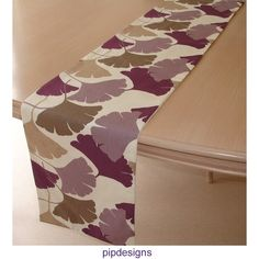 84 Table Runner Purple Ginkgo Leaves 7ft x 12  210cm by pipdesigns, $48.00