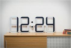 horloge numérique de design moderne