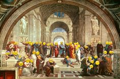 1510 - 1511 The School of Athens — Raphael Style: High Renaissance Genre: history painting High Renaissance, Renaissance Artists, Italian Painters, Italian Artist, School Of Athens, Filippo Brunelleschi, Equestrian Statue, Most Famous Artists, European Paintings