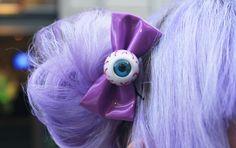 Eyeball hair bow <3