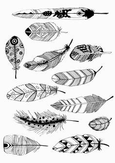 Beautiful Coloring Picture Feather In n Feather Drawing, Feather Art, Feather Tattoos, Wall Drawing, Art Drawings, Adult Coloring Pages, Coloring Books, Feather Template, Zentangle Patterns