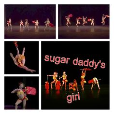 """Nia, Maddie, Chloe, Paige, and Brooke in """"Sugar Daddy's Girl"""" group dance"""