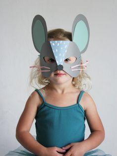 Cat & Mouse paper masks   Mer Mag