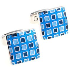 Pixelated Blue Cufflinks by Cuff-Daddy Cuff-Daddy. $39.99. Made by Cuff-Daddy. Arrives in hard-sided, presentation box suitable for gifting.