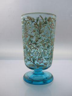 19th century Enamelled Bohemian Glass Beaker, probably Moser