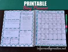 FREE printable blog planner designed specifically for bloggers