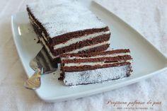 Prajitura pufoasa de post Raw Vegan Desserts, Vegan Cake, Vegan Sweets, Easy Desserts, Romanian Desserts, Romanian Food, Chocolate Cream Cake, Vegan Chocolate, Food Cakes