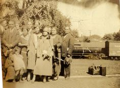 members of her family and Culver's African-American community at the train station in Hibbard to see off Thelma Scott, on her way to Washington, D.C. to attend college at Howard University, a photo taken in 1924 and provided by Thelma's daughter, Thelma Hodges Moorehead.
