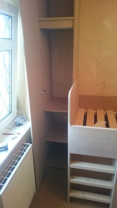 Stairs Bulkhead, Interior Ideas, Home Interior Design, Box Room Bedroom Ideas, Baby Boom, Bunk Beds, Kids Room, Bedrooms, Cabin