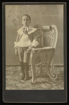 Hover & Shaw Studio, Hastings, Nebraska, Untitled (Child Standing Next to Chair), ca. 1895, gelatin silver print, Museum Purchase: Photography Acquisition Fund, public domain, 2015.121.29