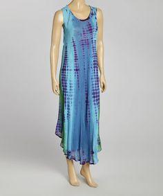Loving this Teal Tie-Dye Momo Maxi Dress - Women on #zulily! #zulilyfinds