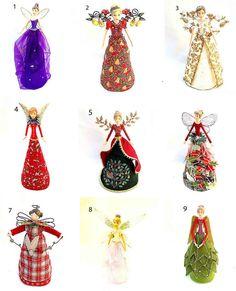 New Gisela Graham Fairy Angel Christmas Tree Topper Decoration #GiselaGraham
