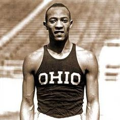 "Jesse Owens-Angered Adolph Hitler at the 1936 Berlin Olympic Games by defeating several members of the ""master race""."