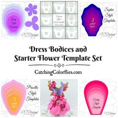 Full Starter Set of 8 Bodices plus 4 Giant Flower Templates - Catching  Colorlfies