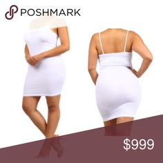 Coming soon! (Plus) White cami slip Estimated date of posting: 10/4  Please like this listing to be notified via price drop when it becomes available for purchase.   This will be available in OS PLUS (fits XL-3x)  🚫Current listed price is not what this will be listed at. 🚫 Tops Camisoles