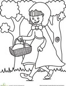 red riding hood colouring page