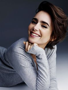 Lily Collins photographed by Victor Demarchelier, credit to Lily Collins Brasil… Más