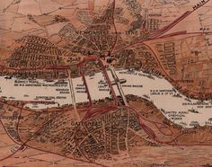 Early century map of Tyneside. Old Maps, Bohemian Rug, Vintage World Maps, History, Bridges, Infographics, Historia, Antique Maps, Infographic