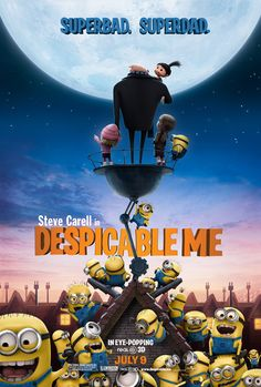 Despicable Me (2010) | The story follows Gru, a criminal mastermind, who uses a trio of orphan girls as pawns for his grand scheme to steal the moon and beat his rival. The world's greatest villain has just met his greatest challenge: three little girls named Margo, Edith and Agnes.