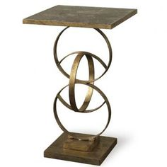 Colton Side Table by Mr Brown.     Frame: Babylon Gold  Top: Marble