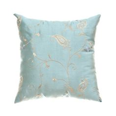 More Silver and blue pillows.
