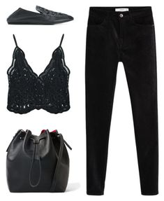 """""""Untitled #4301"""" by michelanna ❤ liked on Polyvore featuring Lanvin, Chicnova Fashion, MANGO, black, total and michelanna"""