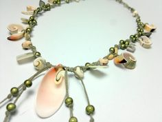 free shippingsummer sea shells necklace by theflowerdesign on Etsy, $32.00