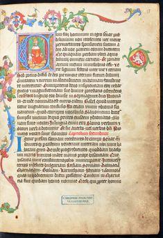 "A leaf with throning King of Bohemia from Přibík Pulkava z Radenína's ""Chronica Bohemica"" by Anonymous from Prague, ca. 1376 (PD-art/old), Biblioteka Czartoryskich"