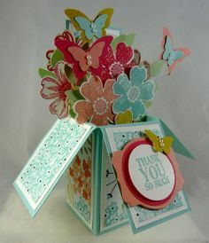 Card in a box Flower Shop by Stampin Up