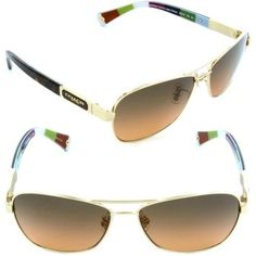 *NEW* Coach Sunglasses Gold and Brown sqaure frame. Get the lowest price on *NEW* Coach Sunglasses Gold and Brown sqaure frame and other fabulous designer clothing and accessories! Shop Tradesy now