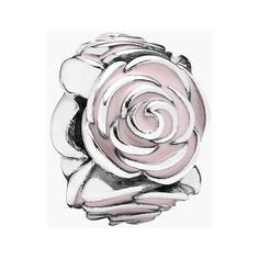 PANDORA 'Rose Garden' Spacer Charm (84 CAD) ❤ liked on Polyvore featuring jewelry, pendants, pandora, charm pendant, rose jewelry, charm jewelry, pandora jewellery and rose charm