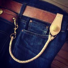 Krysl Goods Bespoke shorter leather wallet rope www.krysl.eu
