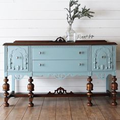 I usually dont take customs but its hard to say no to a custom buffet . This one will be getting a new top and living its next life as - September 21 2019 at Blue Painted Furniture, Painted Buffet, Paint Furniture, Furniture Projects, Furniture Makeover, Furniture Decor, Refinished Buffet, Painted Sideboard, Furniture Design