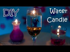 How To Make A Water Candle - DIY Burning Water Candle - YouTube  I have some that the containers got ruined, now I know how to do.