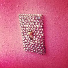 bedazzled light switch! I'm so getting these!