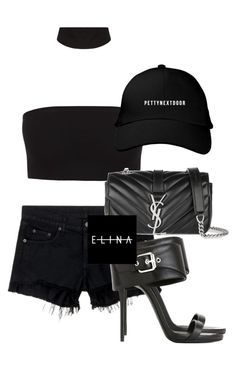 """""""Untitled #1497"""" by elinaxblack on Polyvore featuring rag & bone/JEAN, Giuseppe Zanotti and Yves Saint Laurent"""