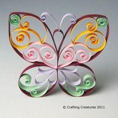 Quilling Butterfly – Patterns PDF Tutorial Butterfly – Quilling Patterns PDF Tutorial Plus Quilling Butterfly, Quilling Animals, Paper Quilling Patterns, Origami And Quilling, Quilling Jewelry, Origami Butterfly, Quilling Paper Craft, Butterfly Crafts, Butterflies