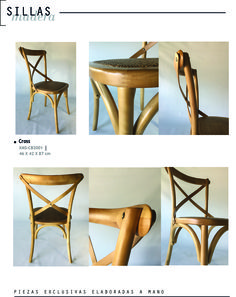 silla cross , esterilla y madera lustrada www.tribeca-web.com.ar