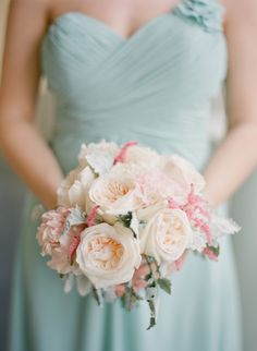 #Bouquet #Bridesmaid | See the wedding on #SMP:  http://www.stylemepretty.com/2013/12/12/traditional-charleston-wedding/ KT Merry Photography