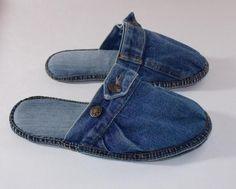 Jeans recycling, Hausschuhe, Pantoffeln von SauterART auf DaWanda.com …