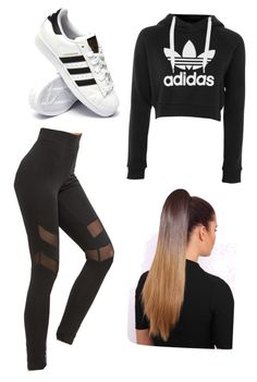 """Untitled #19"" by haileymagana on Polyvore featuring adidas"