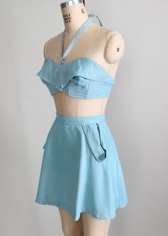 Vintage 1940s Pin Up Swimsuit