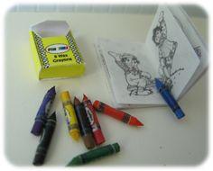 dollhouse miniature crayons colouring book bl 112 dollhouse miniature