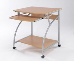 Bonsoni is proud to present this Oslo Computer Desk by Lloyd Phillip & Delric which has Assembled Dimension: 750 x 630 x Attractive, curved, silver finish legs combined with durable Beech surfaces and fitted with Castors, for anyone wanting an afford