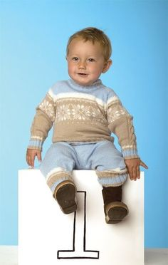 Норвежский свитерок для вашего малыша