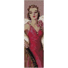 Vintage Lady 14 Peyote Bead Pattern Bracelet Cuff Bookmark