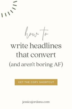 Do you ever feel a stupid amount of pressure when it comes to writing headlines?Truthfully, even after 3+ years in copywriting, I sometimes do, too.I typically write the same headline at least 25 different ways when writing copy for my 1:1 clients.It makes sense why so many business owners (copywriters included) feel the heat for writing a solid headline, since, y'know, it's the first and biggest thing your ideal client will read on your website, in your blog, in your emails, and even your…
